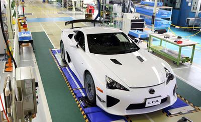 Concluye la producción del Lexus LFA