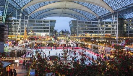 El aeropuerto de Munich se convierte en un gran mercado navideño