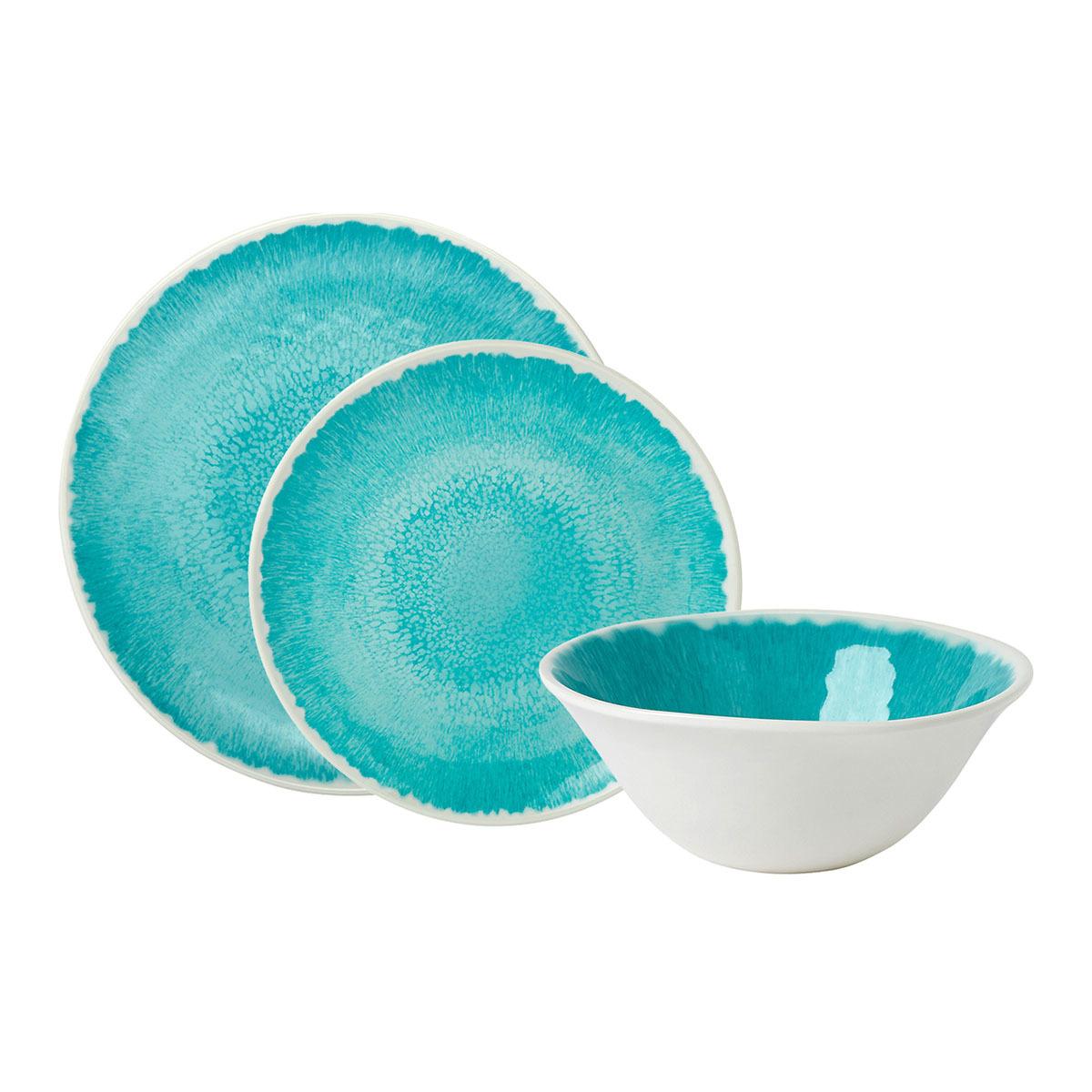 Vajilla de melamina por piezas Swirl Celeste