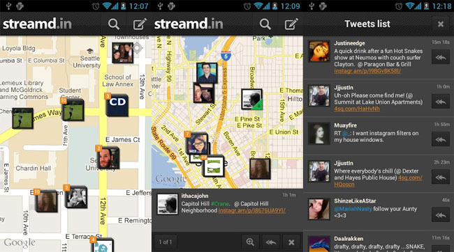 Streamd.in - cliente de Twitter para Android y iPhone