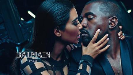 Kanye West y Kim Kardashian viven una historia de amor para Balmain SS15