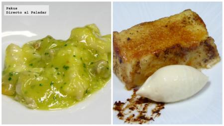 Receta de Kokotxas y de Torrijas de Martín Berasategui y menú degustación en el Restaurante Lágrimas Negras