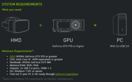 Nvidia Geforce Vr Ready Specs