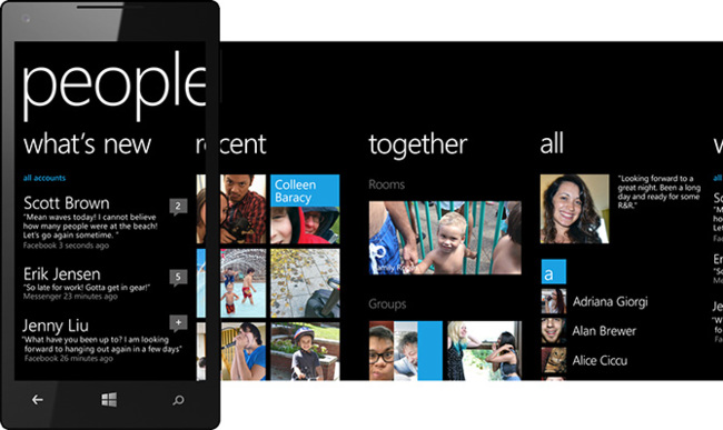 People HUB de Windows Phone 8