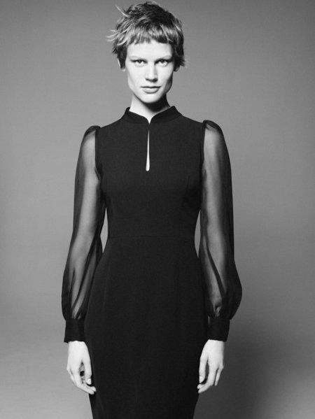 Vestido gasa Zara