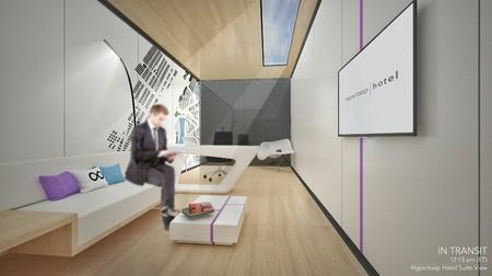 'Hotel Hyperloop', la idea de crear una habitación de lujo en la que viajar por varias ciudades en un día