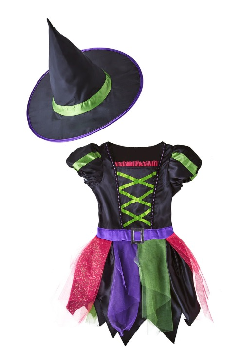 Disfraz Infantil bruja neón Halloween El Corte Inglés