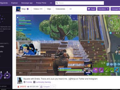 Más de 600.000 personas rompen el récord de Twitch viendo jugar a Ninja y Kim Dotcom, entre otros, a 'Fortnite'