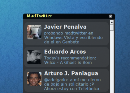 Madtwitter, clon del Twitterrific para Windows