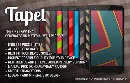 Tapet, una aplicación para generar wallpapers con estilo Material Design