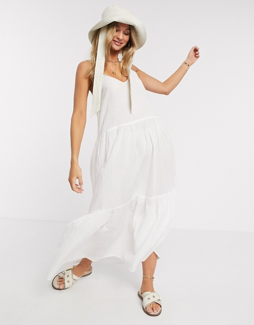 Vestido de tirantes blanco de mbyM