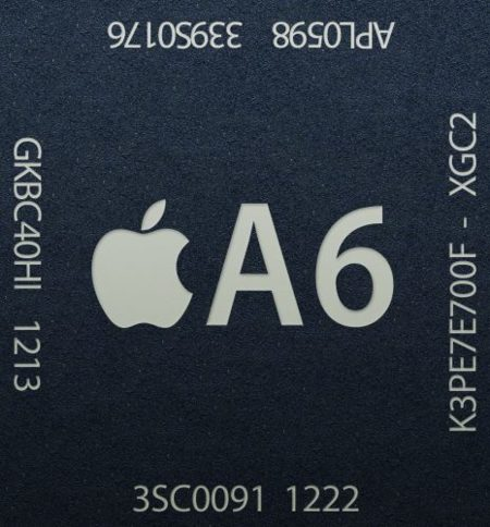Apple A6 - Crédito de Wikipedia y Engadget