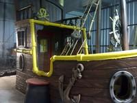 Cama barco de los piratas del país de Nunca Jamás