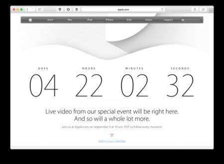 Apple anuncia transmisión en vivo y agrega un conteo para el 9 de septiembre