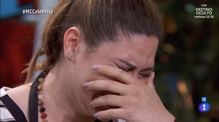 Expulsado Masterchef Celebrity 2021: Tamara deja las cocinas y llora sin consuelo por su situación económica