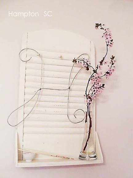 Hazlo tú mismo: un bonito estante con una antigua tabla de lavar