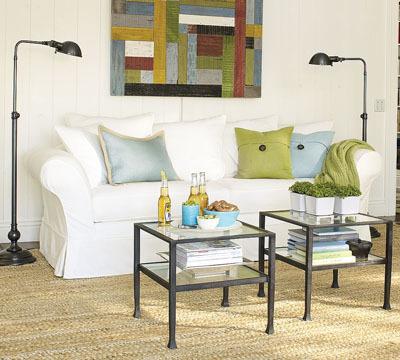 Grandes soluciones para espacios pequeños: dos mesas de centro
