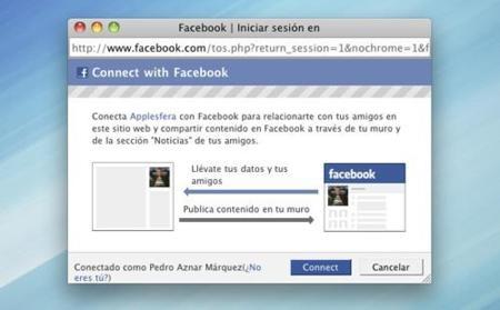 Conéctate a Applesfera utilizando tu cuenta de Facebook