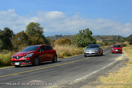 Comparativa: Suzuki Swift Sport vs Renault Clio RS vs Volkswagen Golf GTI (Parte 3)