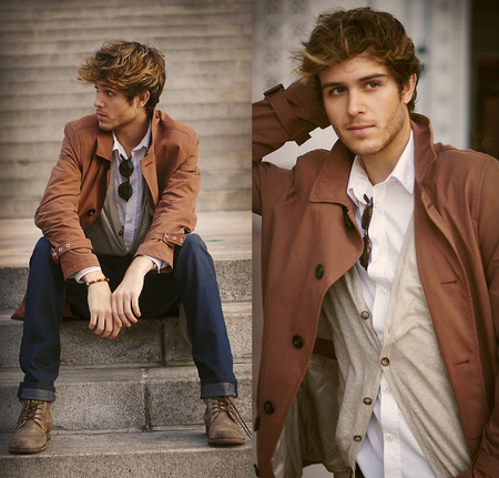 Street Style Brown Coat