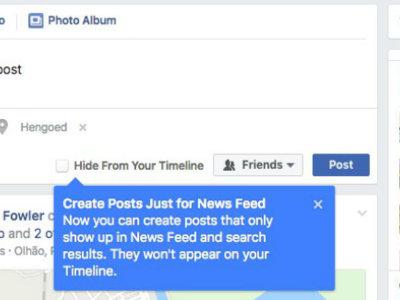 Facebook empieza a experimentar con publicaciones que no aparezcan en nuestro timeline