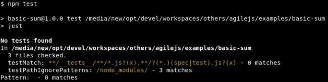 Ejecución de Jest sin tests definidos