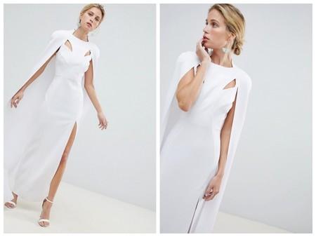 Vestido Blanco Capa Novia Low Cost