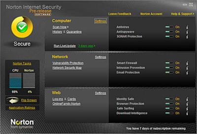 Norton Internet Security 2010 en beta