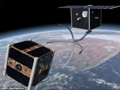 Suiza desarrolla un satélite de limpieza para recoger basura espacial