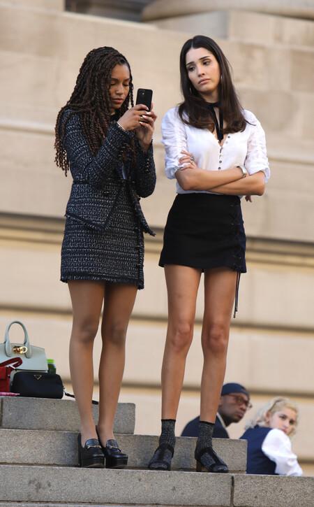 rodaje de gossip girl looks
