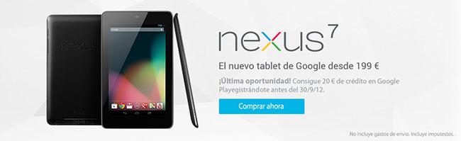 Nexus 7 fin promo