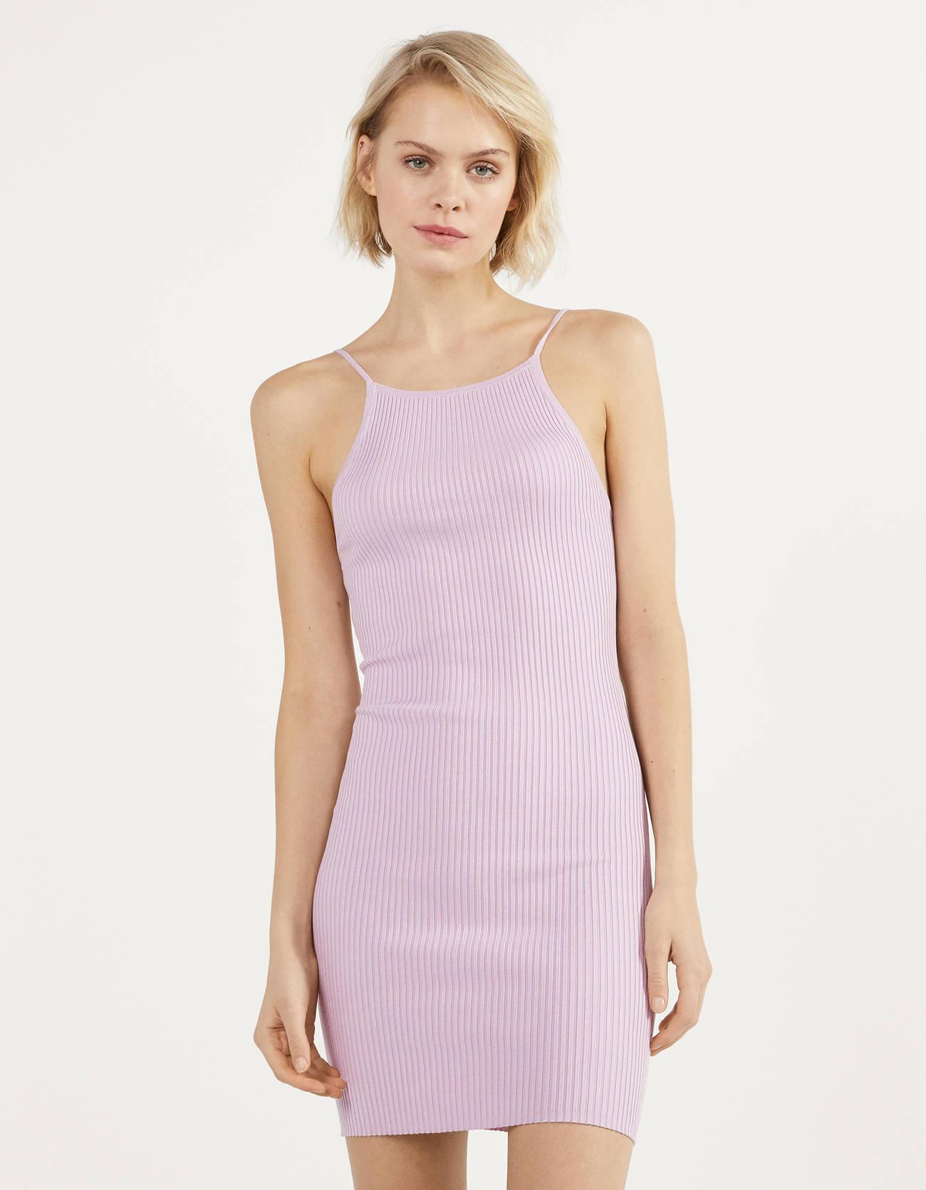 Vestido de punto lila