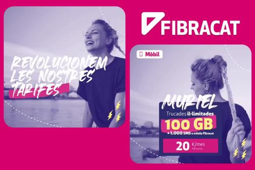 Fibracat estrena la tarifa móvil más rompedora: 100 GB por 20 euros