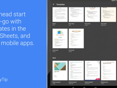 Las plantillas llegan a la suite ofimática de Google (Documentos, Hojas de cálculo y Presentaciones)