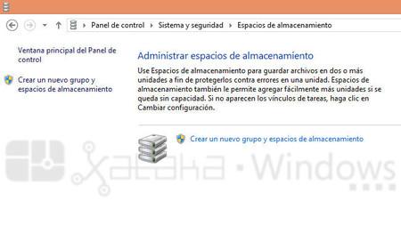 Administrador de espacios de almacenamiento de Windows 8