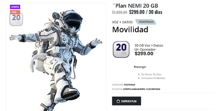 Nemi Plan Renta Mexico Pospago