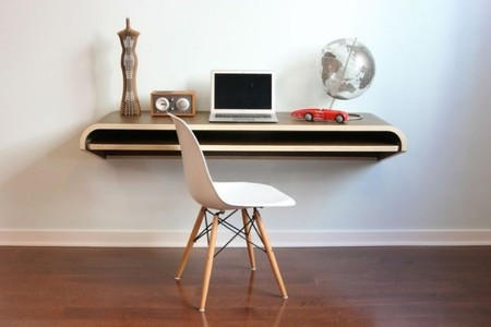 Escritorio de pared para un rincón de trabajo minimalista