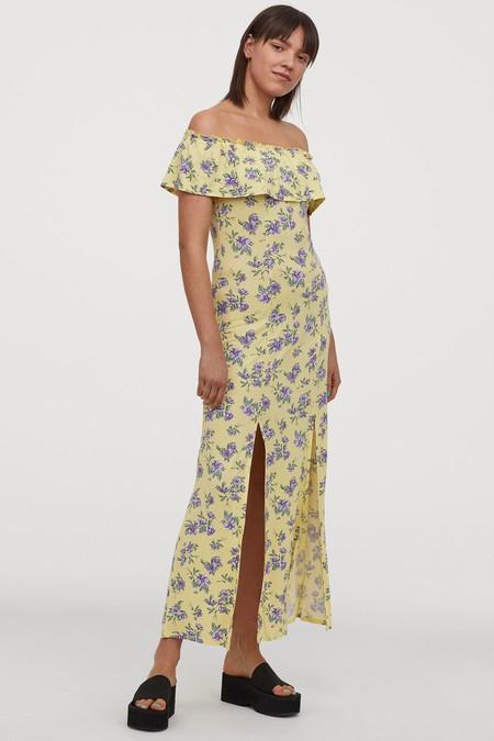 Vestido Escote Bardot Low Cost 11