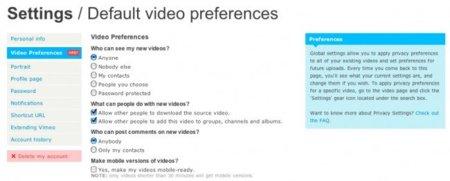 """Vimeo ya permite reproducir en HD los vídeos incrustados y lanza """"global settings"""""""