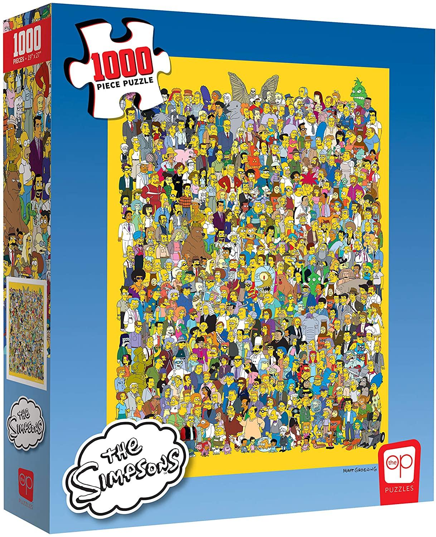 Rompecabezas de 1,000 Piezas - The Simpsons Cast of Thousands - Producto Oficial de Simpsons