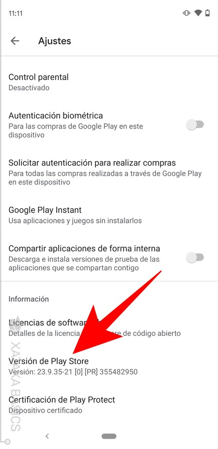 Version Play Store