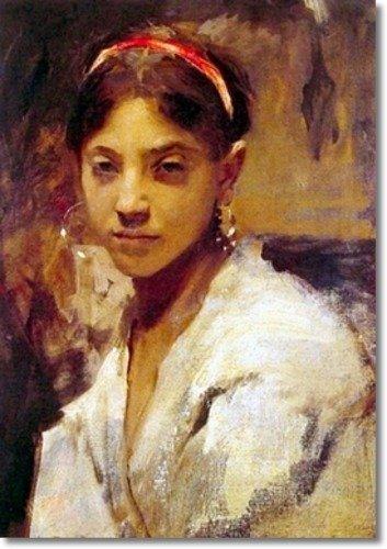 John Singer Sargent - Head of a Capri Girl