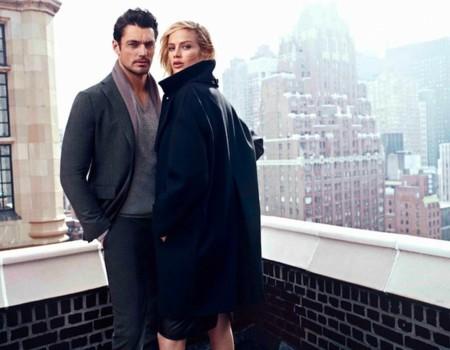 abrigo negro massimo dutti
