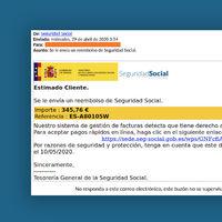 La Seguridad Social no quiere reembolsarte 345 euros vía mail: es todo una nueva estafa con phishing