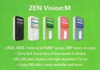 El Creative Zen Vision:M de 60 GB podría aparecer en breve