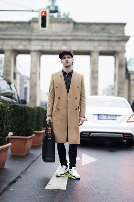 Combinacion Look Abrigo Camel Jeans Vaqueros Tendencia Trendencias Hombre Otono Invierno 2018 02