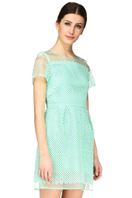 Vestido Verde Agua Tara Jarmon