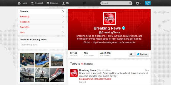 Twitter nuevo diseño 2