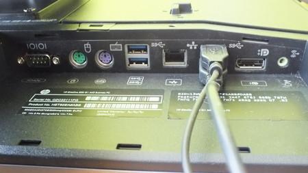 Conexiones traseras HP EliteOne 800