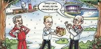 Bernie Ecclestone se ríe de Ron Dennis en su felicitación navideña
